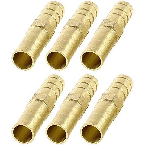 8 mm tubo de aire rápido accesorios neumático conector recto a presión manguera Barb 6 piezas