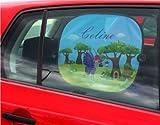 Auto Sonnenschutz Set für Kinder Sonnenblenden über 500 Motive mit eigenen Namen & Wunschmotiv - 2