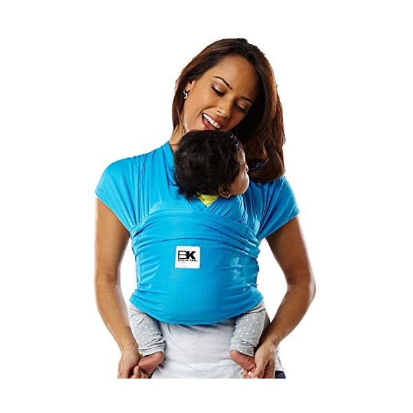 Baby K'tan Carrier (X-Large, Ocean Blue Active) Baby Ktan Easy to use and put on: NO WRAPPING INVOLVED.  6 positions to conveniently carry baby & toddlers from 8 lbs to 35 lbs Hi-tech fabric blocks over 90% of UVA & UVB rays Unique HYBRID double-loop design holds baby securely and evenly distributes weight across back and both shoulders. Washer & dryer safe 1