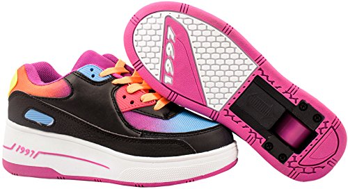 Elara Damen Herren Kinder Rollschuhe Sportschuhe Schuhe mit Rollen Laufschuhe Runners Sneakers Black Oldschool