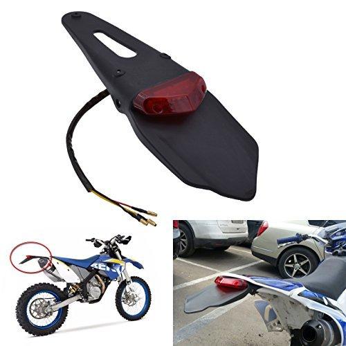 KaTur‒Guardabarros trasero con luz trasera de freno LED para motocicleta de motocross,...