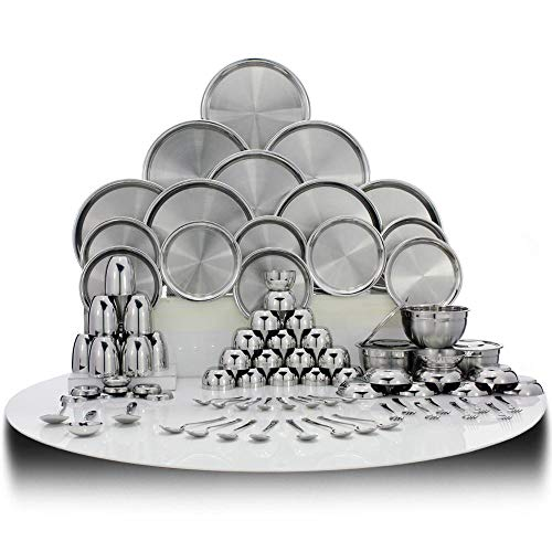 3. Shri & Sam Stainless Steel Dinner Set