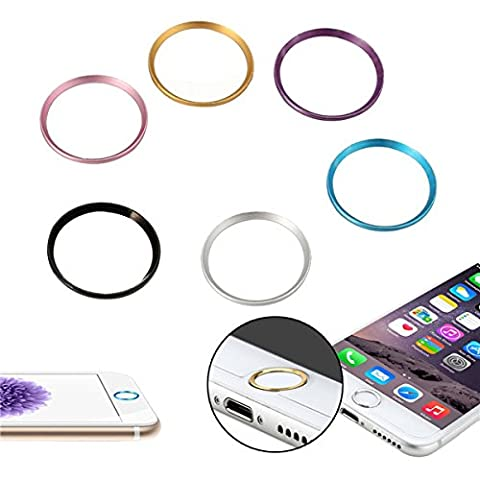 Metal Round Home Key Ring Protector Sticker Touch ID button pour apple iPhone 6S Plus