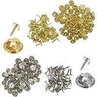 120 unidades de embrague de mariposa con clavijas en blanco, yuCool Pin Backs Tacks de repuesto para manualidades y fabricación de joyería – plata oro