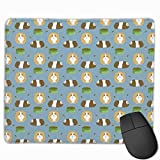 Deglogse Tapis de Souris de Jeu, Smooth Mouse Pad Guinea Pig Print Mobile Gaming Mousepad Work Mouse Pad Office Pad