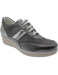 lacets gris orthopédiques C3742 espadrille femme semelle de chaussure
