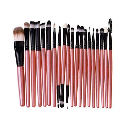 Cooljun 20 pcs/set maquillage brush set makeup brushes kit outils maquillage professionnel maquillage pinceaux yeux pinceau pour les lèvres (Rose)