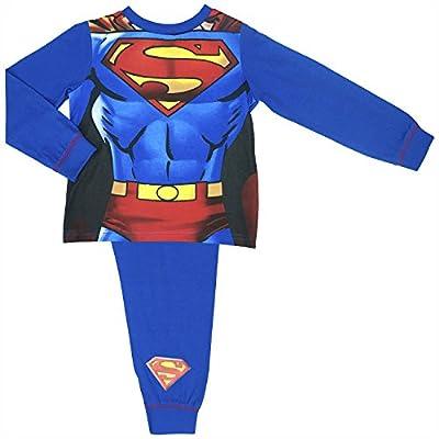 Niños Pijamas Superman con desmontable del Cabo - Edades 2-8 Años