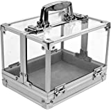 Trademark 600-Piece Clear Acrylic Case - Holds 6 Chip Trays Poker Chip Case (Clear) by Trademark Global