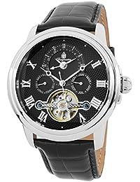 Burgmeister Herren-Armbanduhr XL Analog Automatik Leder BM128-122
