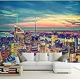 Wandbild Papier Stadt Gebäude Wohnzimmer Sofa Tv Hintergrund Dekor Wandmalerei Fototapete Für Wände Rollen 3D, 430X300 Cm (169,29X118,11 In)
