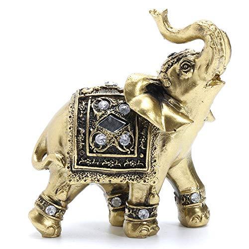 ZXDH Statue Heißer Vintage Feng Shui Elegante Elefanten Stamm Statue Glück Reichtum Figur Geschenk und Dekoration