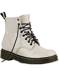 Stiefelparadies Unisex Damen Herren Stiefeletten Worker Boots Profilsohle  Flandell b5030c4866