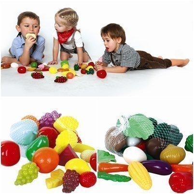 Gowi Spiel-Lebensmittel für Kaufladen oder Spielküche (Früchte & Gemüse Set 50tlg)
