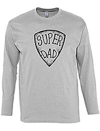 Camisetas de manga larga para hombre con la impresión del Super Dad .
