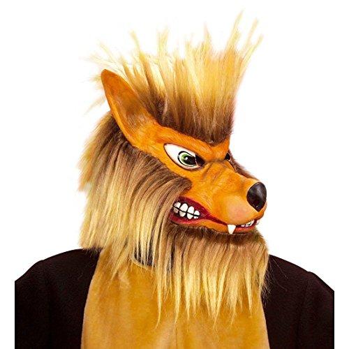 NET TOYS Böser Wolf Maske Wolfs Wolfsmaske Tiermaske Wolfmaske Halloween Halloweenmaske Fasnet Fasnacht (Halloween Maske Böse Wolf)