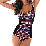 Donne Un pezzo Costumi da bagno Swimwear Più Dimensione Nuoto Costume cinghie bagnarsi Suits Floreale Stampare Body beachwear shapewear Nero 5XL Kootk
