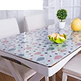 XKQWAN PVC Einweg Wasserdicht ?l-Beweis Weichglas Hitzebest?ndige tischdecke Alter Coffee Table pad tischdecke-F 90x150cm(35x59inch)