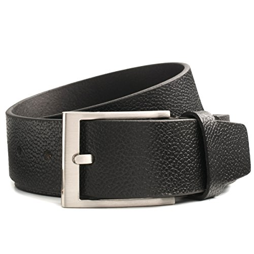Lindenmann Mens Leather Belt/Mens Belt, full grain leather, black
