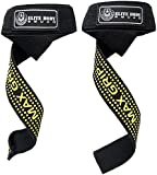 Elite Body Squad Weight Lifting Straps - SALE NOW ON - Pro Wrist Straps With Neoprene Wrist Support - Perfect For Resistance Training, Crossfit, With A Chinning Bar Or As Deadlift Straps To Replace Weight Training Gloves - With Rubber 'MAX GRIP' Sticky Pads - Over 60cm Long
