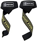 Lifting Straps - Elite Body Squad Pro Wrist Straps With Neoprene Wrist Support - Perfect For Resistance Training, Crossfit, With A Chinning Bar Or As Deadlift Straps To Replace Weight Lifting Gloves - With Rubber 'MAX GRIP' Sticky Pads - Over 60cm Long - Satisfaction Guaranteed