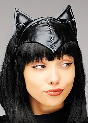 Struts Fancy Dress Ladies Black Catwoman Maske Kopfstück