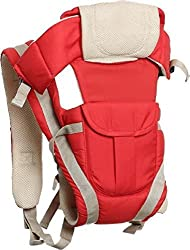 Aashi Enterprises High Quality Hands Free Baby Carrier with Adjustable Belt, Comfortable Head Support & Buckle (Red)