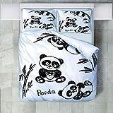 4 Teilige Bettwäsche Set Cartoon Kinderzimmer Tier Panda Bambus Gedruckt Polyester Bettbezug Mit Kissenbezügen Bettbezug Set Pflegeleicht Weich Glatt Geeignet Für Alle Jahreszeiten