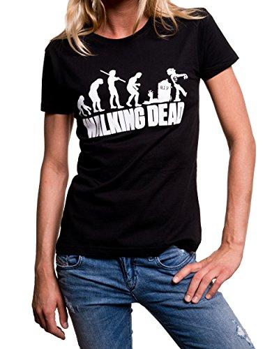 Maglietta donna nera ZOMBIE EVOLUZIONE T-shirt Walking Dead Nero