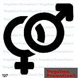 Piktogramm Typ 127 Icon Symbol Zeichen Male Female Männlich Weiblich Unsisex Aufkleber Sticker ca.15cm von Pegatina Promotion® Aufkleber mit Verklebehilfe von Pegatina Promotion® ohne Hintergrund geplottet