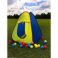 Garden mile® Kids Pop Up Tent Ball Pit Play Tent Childrens Indoor Play Tent Or Outdoor Waterproof Play Tent,Wigwam Play Tent