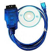 HaoYiShang USB OBD2 OBD2 VAG KKL VAG-COM cable de escáner de diagnóstico para 409.1 Audi VW Skoda