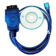 ZHENBAOTIAN VAG 409.1 VW / Audi Obd2 vag Kkl USB OBD-II-2 Kkl 409.1 Obd2 Vag-Com explorador de diagnóstico del cable de VW / Audi / Seat / Skoda