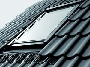 Fenêtre de toit Velux GGL basculant fenêtre 55x 118cm CK063060de 5Star Pin Naturel avec cadre de fixation pour bardeaux ou ardoise EDS