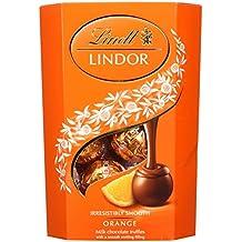 Lindt Lindor Milk Orange Cornet, 200 g (Pack of 2)