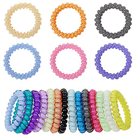 mokale Lot de 20 attaches queue de cheval de cheveux – Boutique Grand filles Cheveux Extensible élastique cordes élastiques pour accessoires pour femmes et Mesdames