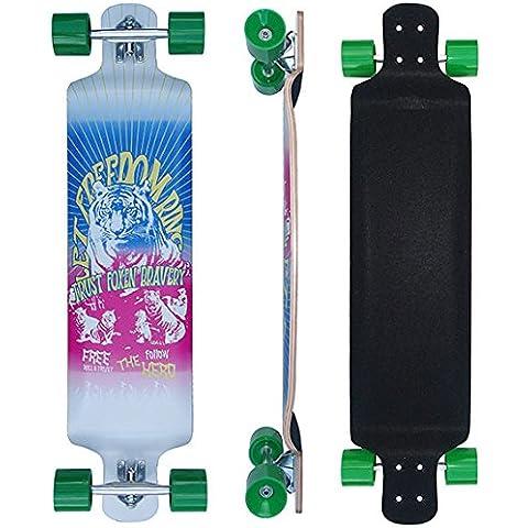 'Drop Down Longboard 41con Big Wheels 75x 65mm Skateboard 9x Kan.- Maple