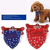 Wenwenzui Fußabdruck Hundehalsbänder Muster Tragetuch Haustier Haustier Schal Hundeschal rot L