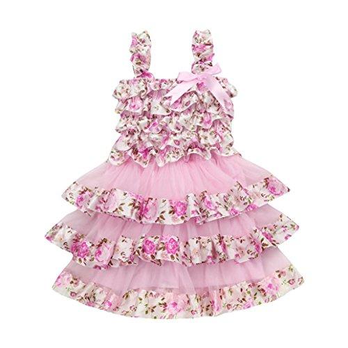 Girls Princess Dress Summer Toddler Kids Girl Lace Gauze Floral Tutu Dress Party Wedding Gown Dress Birthday Gift