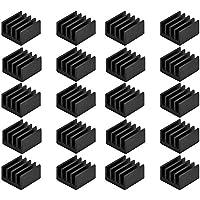 Easycargo 20pcs disipador calor pequeño + cinta adhesiva conductora térmica, mini enfriador Disipador calor para enfriar VRM Stepper Driver MOSFET Reguladores VRam (8,8mmx8,8mmx5mm)