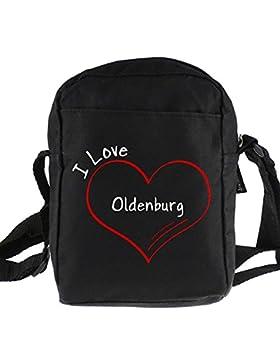 Umhängetasche Modern I Love Oldenburg schwarz