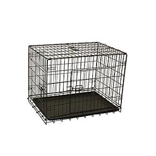 Aleko 76,2cm, schwarz, 2Türen, 2faltbar Koffer Hunde Transportkäfig Katze Kennel mit ABS Tablett