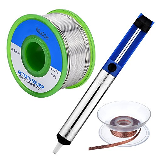 mudder-soldering-kit-06-mm-lead-free-solder-wire-25-mm-desoldering-wick-15-meter-and-solder-sucker