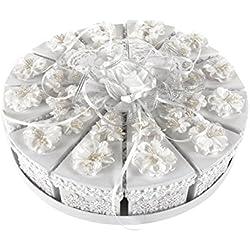 Roomando Geschenkbox-Set Torte 12 Boxen Hochzeit Verpackungen Geschenkkörbe Geschenk-Kartons Geschenk-Tüten Geschenk-Boxen (Geschenkbox-Set Torte)