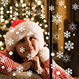Schneeflocken Aufkleber, Fensterbilder Weihna...Vergleich