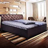 #8: Fine living Metal Bed with Lifton Storage, King Size (Brown)