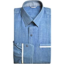 Denim Club India Exclusive Natural Indigo Handloom Selvedge Denim Shirt for Men - Full Sleeves