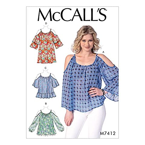 McCall 's Patterns McCall 's Schnittmuster 7412ZZ, Misses Tops und