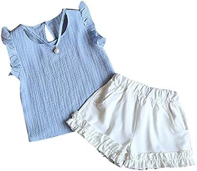 Conjuntos de niñas, FAMILIZO Bebés Niñas El NiñO Del Verano De Los BebéS De Los Cabritos Arropa La Camiseta Tops De La Camiseta + Pantalones Cortos Fijados