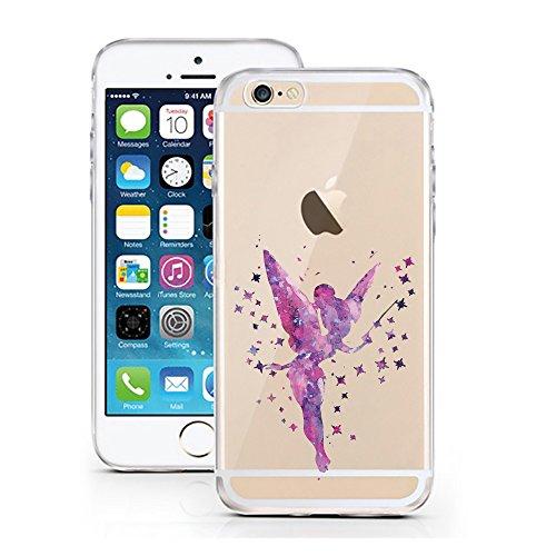 iPhone 5 5S SE Hülle von licaso® für das Apple iPhone 5S aus TPU Silikon Meerjungfrau Aquarell Mermaid Wasser Ozean Fisch Comic Muster ultra-dünn schützt Dein iPhone SE & ist stylisch Schutzhülle Bump Elfe Lila Aquarell